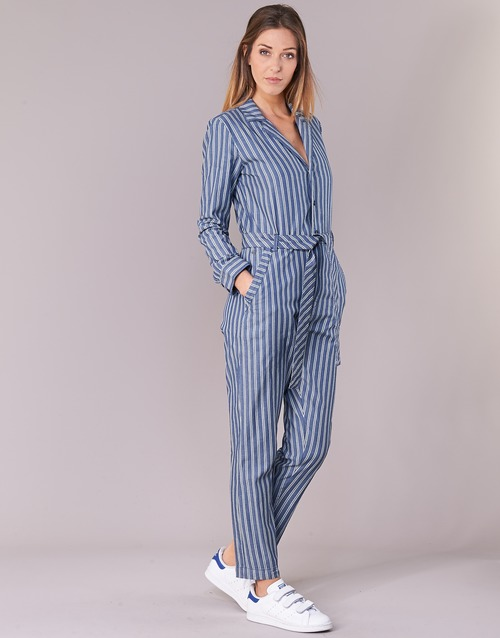 Wmn White star L G Jumpsuit Deline Blue s Raw q8wnIUdvg