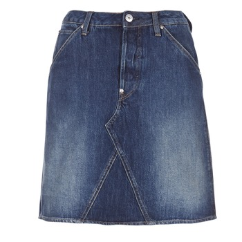 Clothing Women Skirts G-Star Raw 5622 CUSTOM A-LINE SKIRT Blue