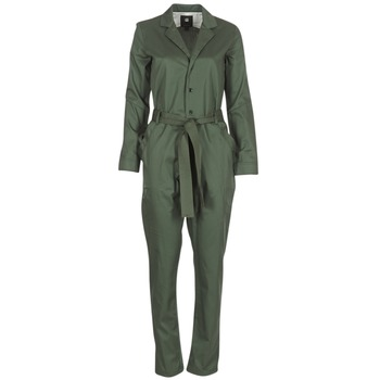 Clothing Women Jumpsuits / Dungarees G-Star Raw DELINE JUMPSUIT WMN L/S Kaki