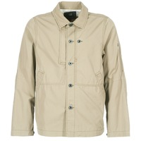 Clothing Men Jackets G-Star Raw RACKAM OVERSHIRT Beige