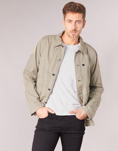 Clothing Men Jackets G-Star Raw RACKAM OVERSHIRT Beige