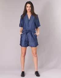 Clothing Women Jumpsuits / Dungarees G-Star Raw BRONSON SHORT JUMPSUIT Blue