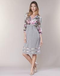 Clothing Women Short Dresses Cream ZAIROCE Grey