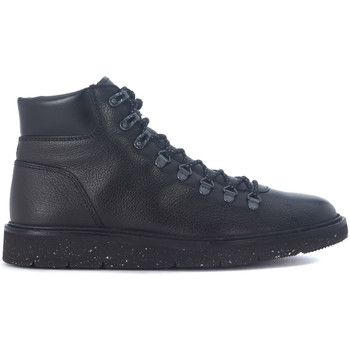 Shoes Men Mid boots Hogan Stivaletto  Hiking H334 in pelle nera Black