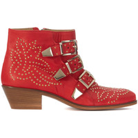 Shoes Women Ankle boots Lemaré Texan Lemaré in red nappa leather Red