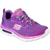 Shoes Girl Low top trainers Skechers Air Breezy Bliss Lace Girls Sports Trainers purple