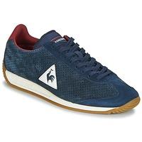 Shoes Men Low top trainers Le Coq Sportif QUARTZ PERFORATED NUBUCK Blue / Red