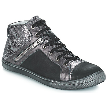 Shoes Girl Hi top trainers GBB KAMI Black / Silver