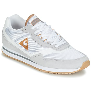 Shoes Women Low top trainers Le Coq Sportif LOUISET SUEDE/NYLON Grey / White