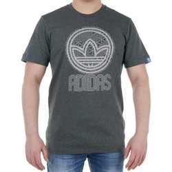 Clothing Men short-sleeved t-shirts adidas Originals Cir Trefoil Tee Graphite
