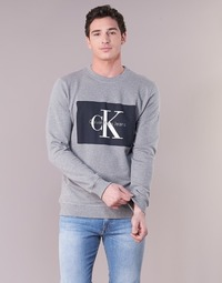 Clothing Men sweaters Calvin Klein Jeans HOTORO REGULAR Grey