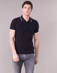 Clothing Men short-sleeved polo shirts Calvin Klein Jeans PAUL 2 SLIM Black