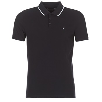 Clothing Men short-sleeved polo shirts Calvin Klein Jeans PAUL 2 SLIM Black