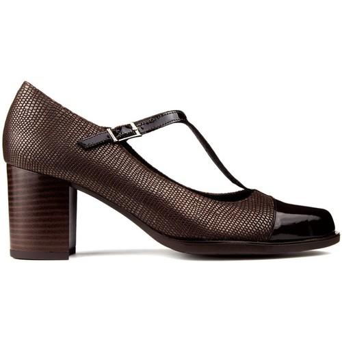 Shoes Women Heels Kroc LEATHER SHOES BROWN