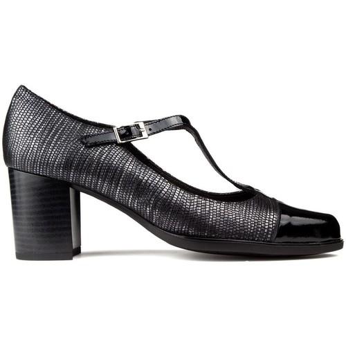 Shoes Women Heels Kroc LEATHER SHOES BLACK