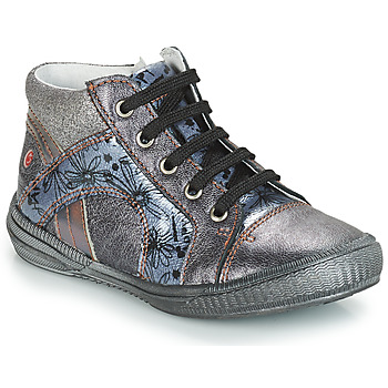 Shoes Girl Hi top trainers GBB ROSETTA Grey / Blue