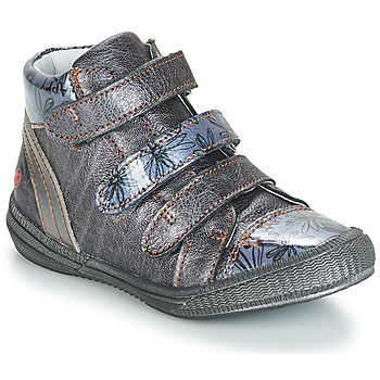 Shoes Girl Mid boots GBB RAFAELE Blue / Grey