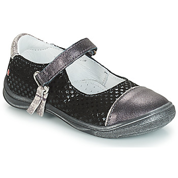 Shoes Girl Flat shoes GBB RIKA Grey / Black