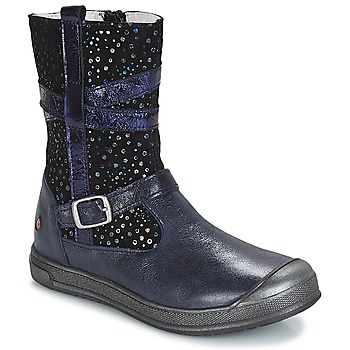 Shoes Girl Mid boots GBB NARCISSE Vte / Navy confetti