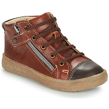 Shoes Boy Mid boots GBB NICO Brown