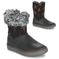 Shoes Girl High boots GBB DUBROVNIK Black / Grey