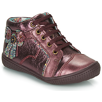Shoes Girl Mid boots Catimini RHUBARBE Bordeaux