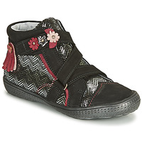 Shoes Girl Mid boots Catimini ROQUETTE Black / Silver