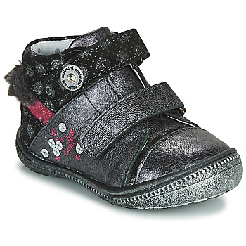 Shoes Girl Mid boots Catimini ROSSIGNOL Grey / Silver