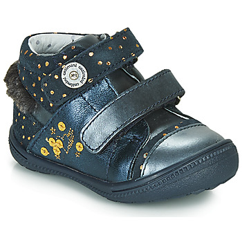 Shoes Girl Mid boots Catimini ROSSIGNOL Marine / Gold