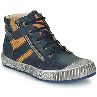 Shoes Boy Hi top trainers Catimini RAMBOUTAN Marine / Ocre tan
