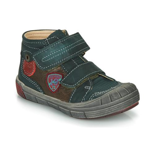 Shoes Boy Hi top trainers Catimini ROMARIN Blue / Brown