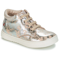 Shoes Girl Hi top trainers GBB SACHA Beige / Silver