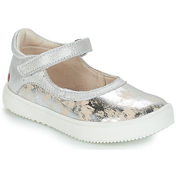 Shoes Girl Flat shoes GBB SAKURA Silver / Beige