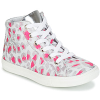 Shoes Girl Hi top trainers GBB SERAPHINE Grey / Pink / White