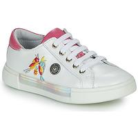 Shoes Girl Hi top trainers Catimini SYLPHE Vte / White-pink / White