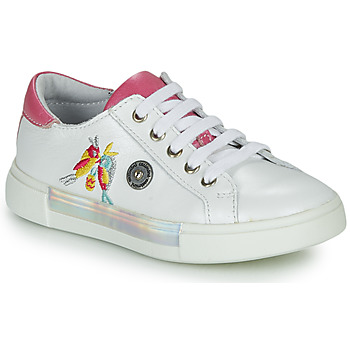 Shoes Girl Low top trainers Catimini SYLPHE White / Pink