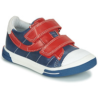 Shoes Boy Low top trainers Catimini SORBIER Blue / Red