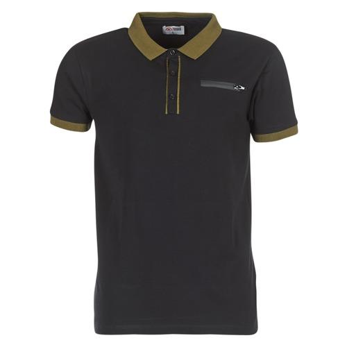 Clothing Men short-sleeved polo shirts Yurban IMARTINGO Black
