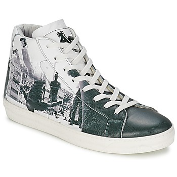 Shoes Men Hi top trainers American College BREAKDANCE Black / White