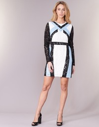 Clothing Women Short Dresses Morgan RLIXI White / Black / Blue