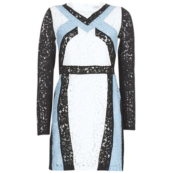 Clothing Women Short Dresses Morgan RLIXI White / Black / Blue
