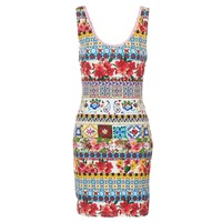 Clothing Women Short Dresses Desigual OCONDE Multicoloured