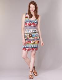 Clothing Women Short Dresses Desigual OCONDE Multicoloured