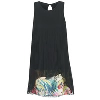 Clothing Women Short Dresses Desigual PLAGIOOC Black