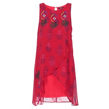 Clothing Women Short Dresses Desigual DORIJE Red