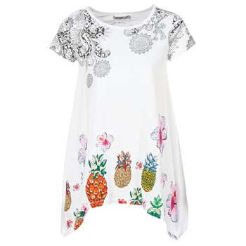 Clothing Women Tunics Desigual AOPOLA White