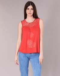 Clothing Women Tops / Sleeveless T-shirts Desigual PERTIFU Red