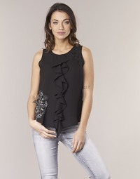 Clothing Women Tops / Sleeveless T-shirts Desigual POALDAOR Black