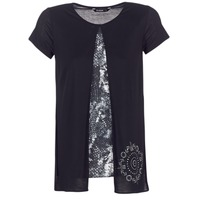 Clothing Women short-sleeved t-shirts Desigual NUTILAD Black