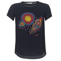 Clothing Women short-sleeved t-shirts Desigual NAIKLE Black